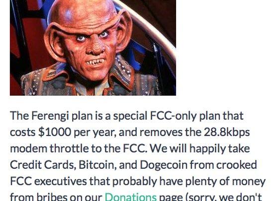 Host gives FCC a 28.8Kbps slow lane in net neutrality protest