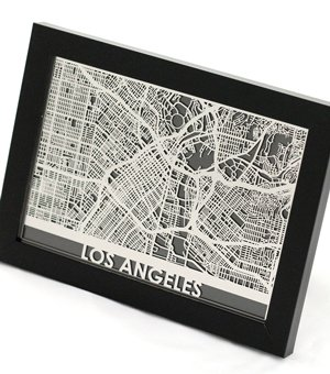 Huckberry | Cut Maps | Los Angeles   5 X 7 (Stainless)