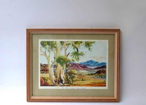 Vintage Retro 1950s Albert Namatjira Australian by evaelena