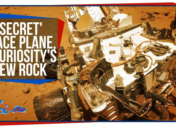 'Secret' Space Plane, and Curiosity's New Rock - YouTube