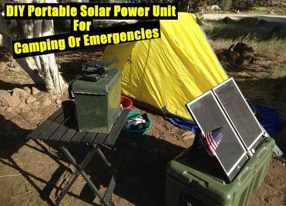 DIY Portable Solar Power Unit For Camping Or Emergencies - SHTF Preparedness