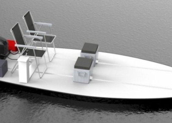 BeachRay simplifies the boat into a flat, floating lounge