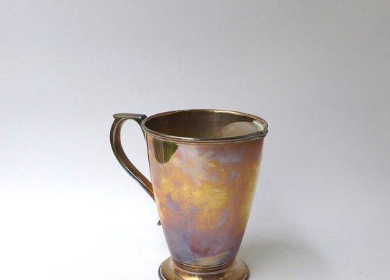 Antique art deco large silver plate epns shaving mug by evaelena