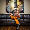 Photographer Bought An Old Russian Space Suit In An Auction, Takes Pictures Of Himself In It