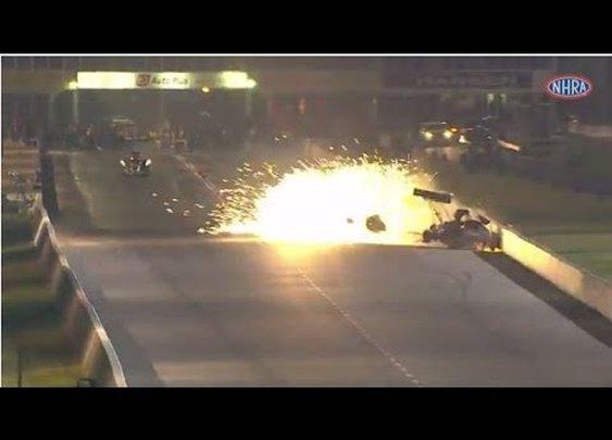 NHRA 300 MPH crash holeee shee | LarsTVLarsTV