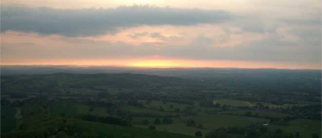Hiking and Wild Camping Malvern Hills May 2014