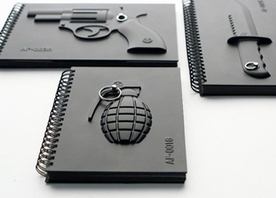 Armed Notebooks from REVOLV on Storenvy