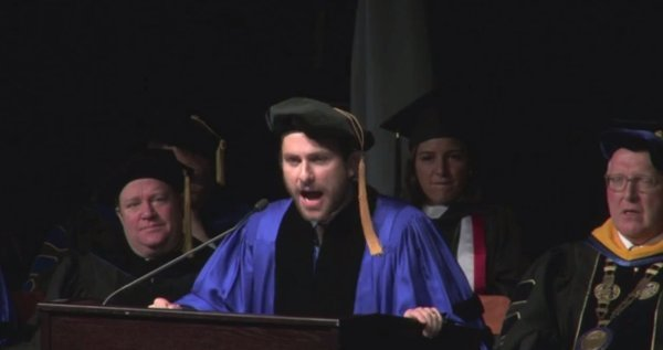 Charlie Day's Commencement Speech Goes Viral | Trending Now - Yahoo News