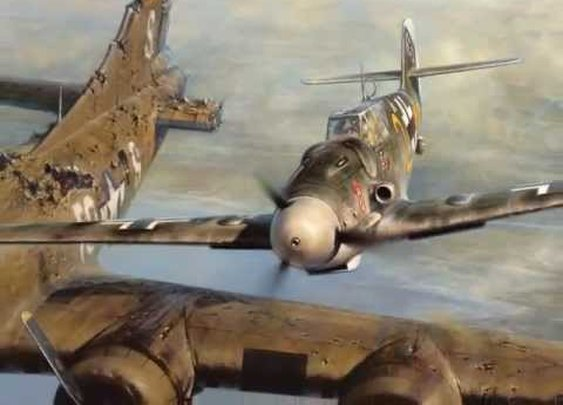 Bf 109 pilot Franz Stigler and B-17 pilot Charlie Brown's first meeting - YouTube