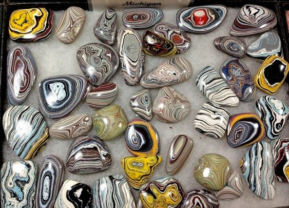 Fordite, A Beautifully Colorful Gemstone-Like Byproduct of Early Auto Manufacturing Formed by Layers of Car Paint