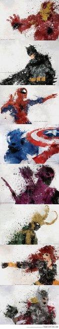 Superhero Splatter Art