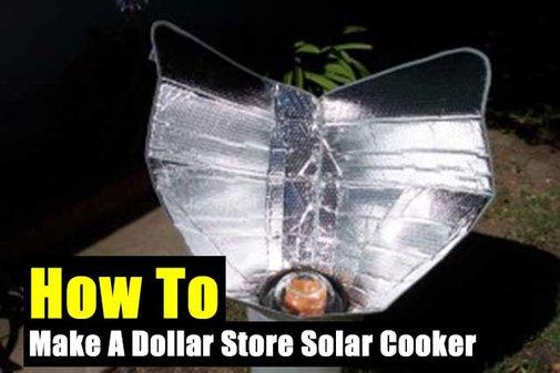 How To Make A Dollar Store Solar Cooker - SHTF Preparedness