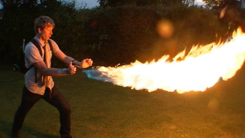 Man Makes DIY X-Men Pyro Flamethrowing Backpack