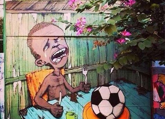 Anti-FIFA Graffiti Popping Up All Over Brazil's Streets