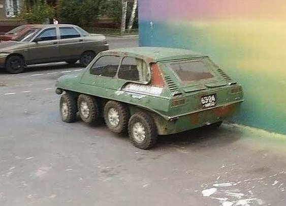 Weird, Bizarre, Innovative Soviet Russian 8-wheeled Car