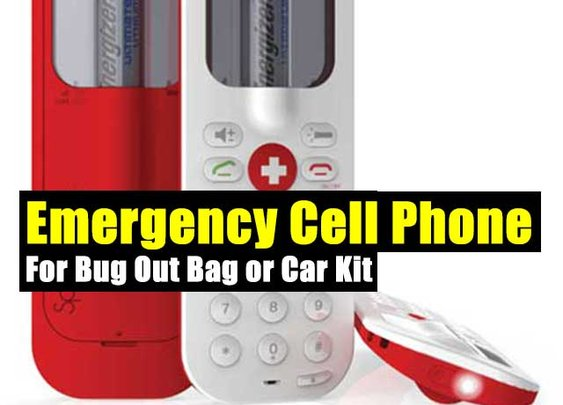 Emergency Cell Phone For Bug Out Bag or Car Kit - SHTF Preparedness