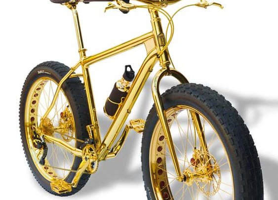 24K Gold Mountain Bike on Sale for $1 Million