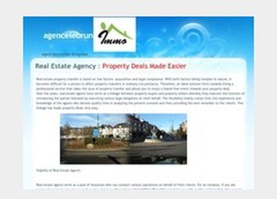 agencelebrun - agent immobilier Bruxelles