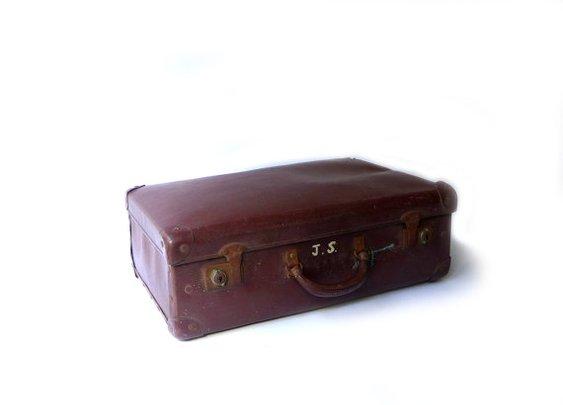 Vintage 1950s medium Globite brown school case by evaelena on Etsy