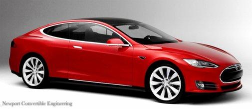 The all-new Tesla S Coupé & 2-door convertible