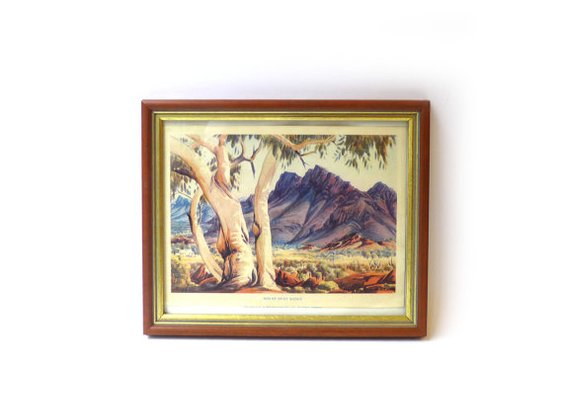 Vintage 1960s small Albert Namatjira outback print by evaelena