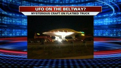 Military drone mistaken for 'UFO' along DC highways