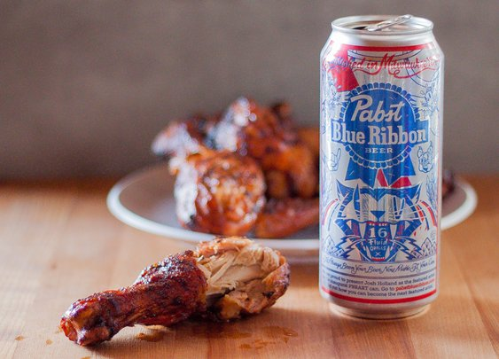 Cooking With Booze: PBRBQ Chicken Drummies » Made Man