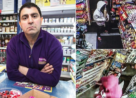 Special Forces veteran and black belt shopkeeper chases off robbers in Salford | Mail Online