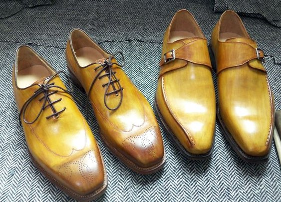 every pair of shoes have a unique, irreproducible patina