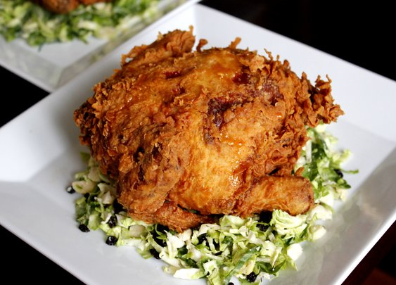 Fried Game Hen - rotio/food