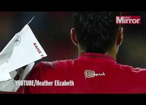 Peru Defender Hansell Riojas Hit By Paper Plane At Wembley , England vs Peru - YouTube