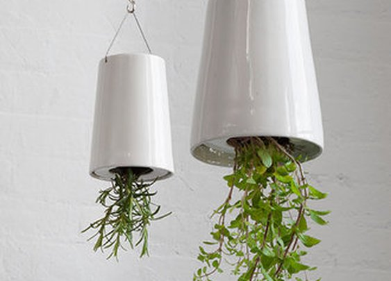 Sky Planter Upside-Down Hanging Ceramic Plant Pot