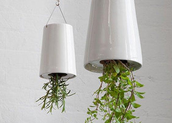 Sky Planter Upside-Down Hanging Ceramic Plant Pot