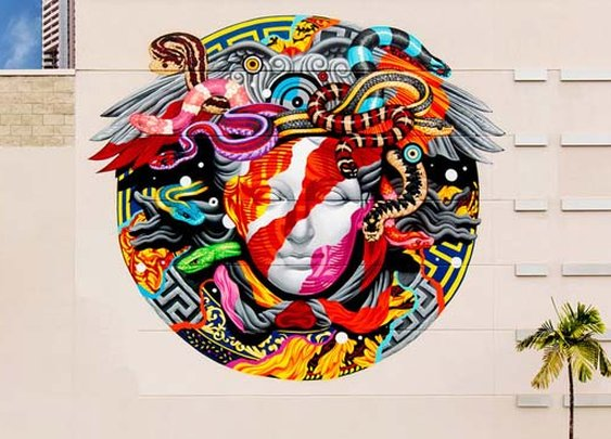 Versace x POW! WOW! Mural by Tristan Eaton