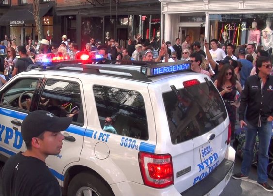 Cops Breakup goldRush Rally 6 // NYC Finish Line - YouTube