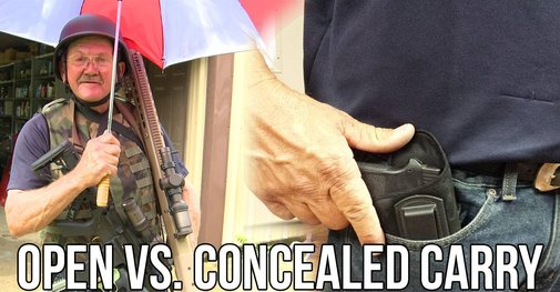 Jerry Miculek on Open vs. Concealed Carry