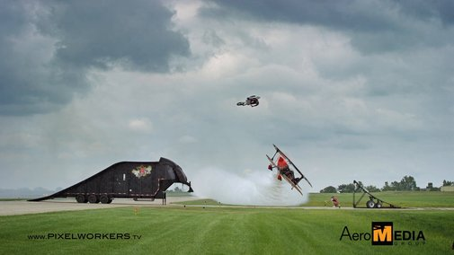 A Motorcycle Jumped an Airplane