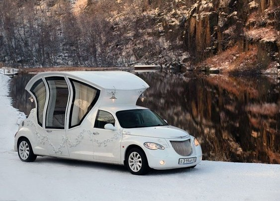 PT Cruiser Wedding Coach Is A Marriage Of All Things Ugly