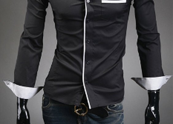$6.99 . Men's Button Down black Shirt