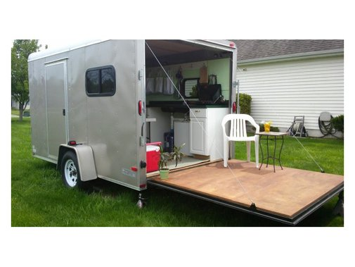 Off-grid RV Converted From Cargo Trailer | Cabins, Tiny Houses & Retreats