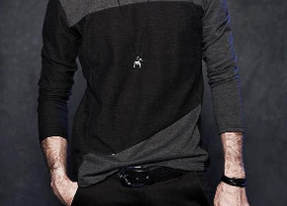 Mens Long Sleeve Shirt Color Block