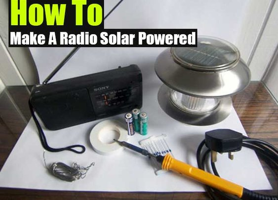 DIY Solar Powered Radio - SHTF Preparedness