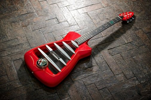 Alfa Romeo-inspired Guitar Redefines High Performance