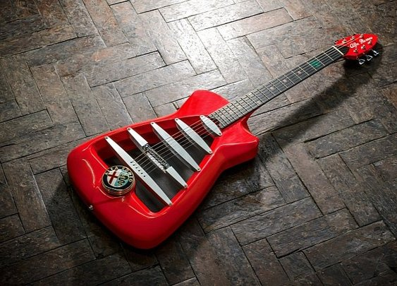 Alfa Romeo-inspired Guitar Redefines High Performance
