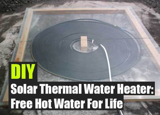 DIY Solar Thermal Water Heater: Free Hot Water For Life - SHTF Preparedness