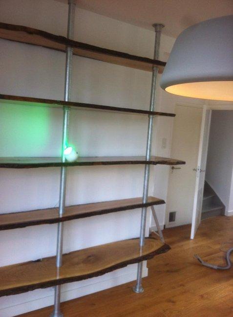 Awesome Oak slab bookshelf diy!