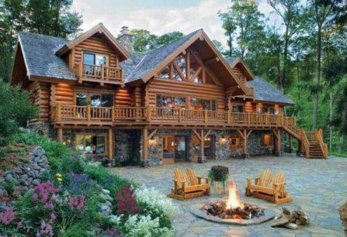 Awesome Log / Stone Cabin | Tiny Houses, Cabins & Retreats