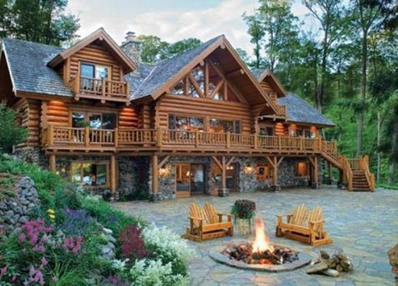 Awesome Log / Stone Cabin | Tiny Houses, Cabins & Retreats