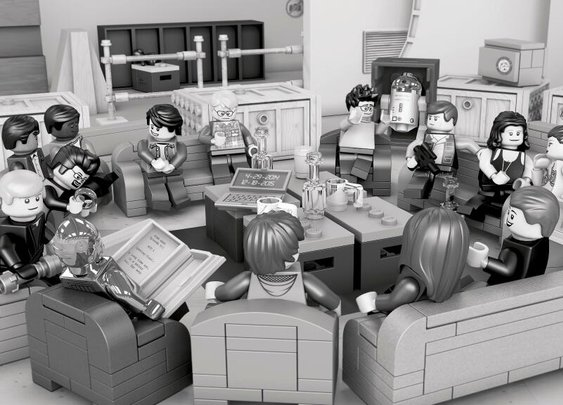 Somehow That Episode VII Table Read Photo Is Even Better In Lego Form