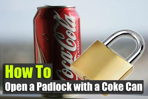 How to Open a Padlock with a Coke Can - SHTF Preparedness